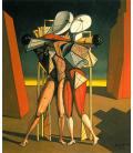 Giorgio De Chirico - Ettore e Andromaca. Stampa su tela