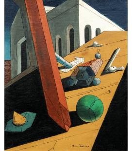 Giorgio De Chirico - Il cattivo genio di un re. Stampa su tela