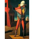 Giorgio De Chirico - Il Trovatore. Stampa su tela