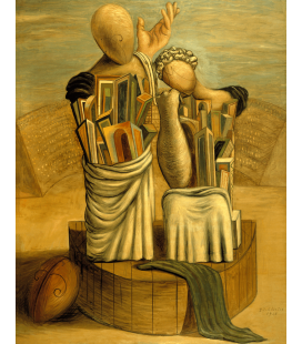 Printing on canvas: Giorgio De Chirico - Сomedy and tragedy