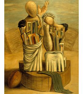 Giorgio De Chirico - La commedia e la tragedia. Stampa su tela