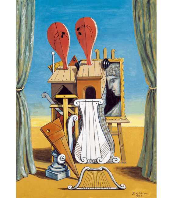 Printing on canvas: Giorgio De Chirico - The muses of music