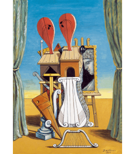 Giorgio De Chirico - Le muse della Musica. Stampa su tela