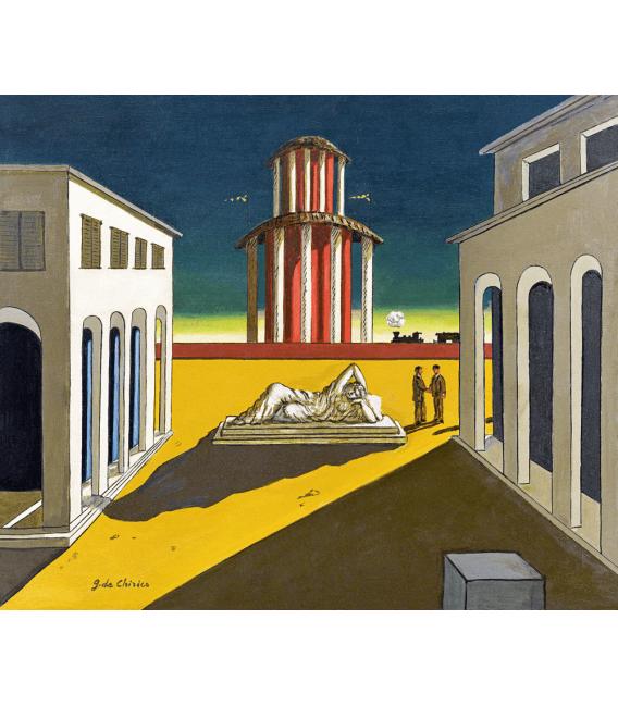 Stampa su tela: Giorgio De Chirico - Piazza d'Italia