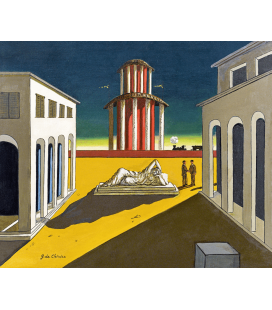 Giorgio De Chirico - Piazza d'Italia. Stampa su tela