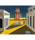 Giorgio De Chirico - Square of Italy. Printing on canvas