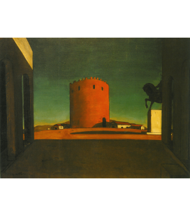 Giorgio De Chirico - Volos (Greece). Printing on canvas