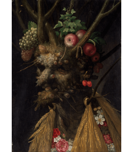 Giuseppe Arcimboldo - Four Seasons in One Head -. Printing on canvas