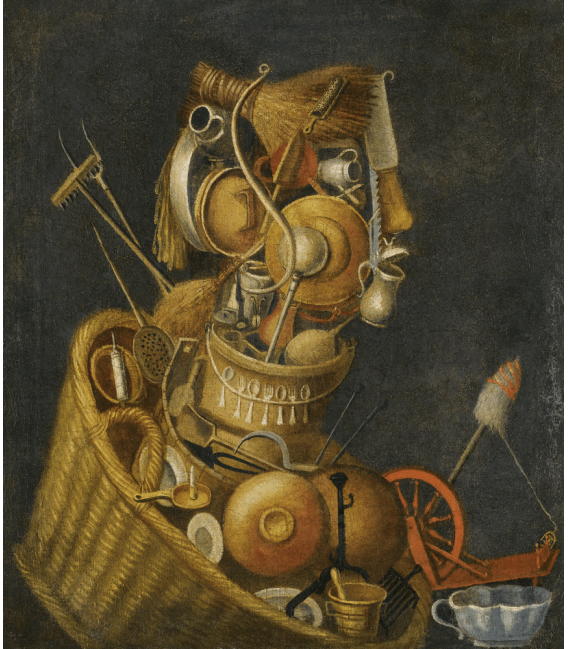Printing on canvas: Giuseppe Arcimboldo - An anthropomorphic Still Life