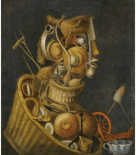 Giuseppe Arcimboldo - An anthropomorphic Still Life. Printing on canvas