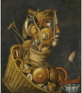 Giuseppe Arcimboldo - Natura morta antropomorfica. Stampa su tela