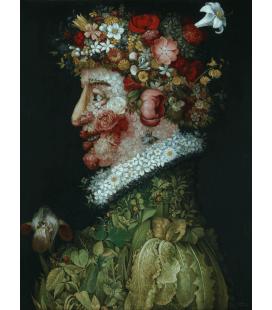Giuseppe Arcimboldo - Primavera. Stampa su tela