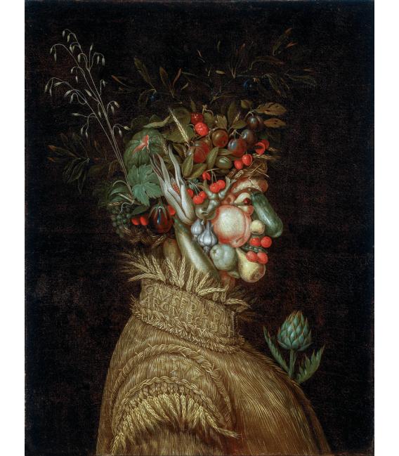 Printing on canvas: Giuseppe Arcimboldo - Allegorical Portrait