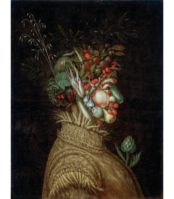 Stampa su tela: Giuseppe Arcimboldo - Ritratto allegorico, Estate
