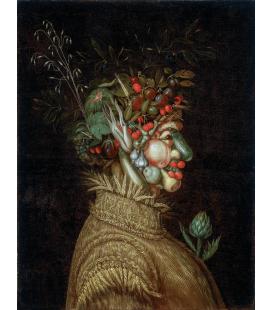Giuseppe Arcimboldo - Ritratto allegorico, Estate. Stampa su tela