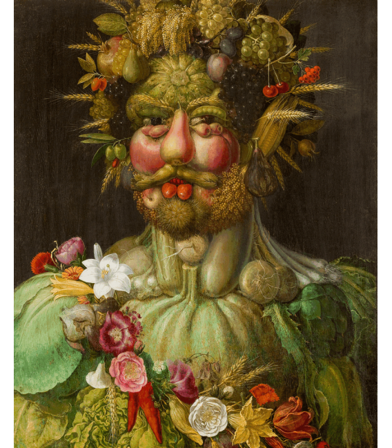 Printing on canvas: Giuseppe Arcimboldo - Portrait of Rudolf II of Habsburg as Vertumnus