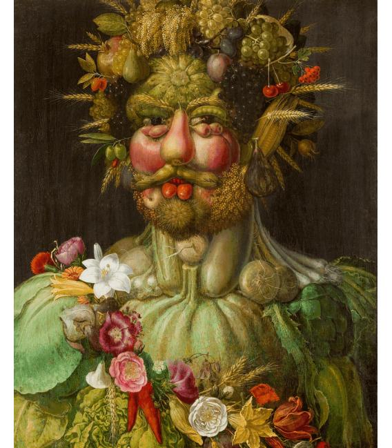 Stampa su tela: Giuseppe Arcimboldo - Ritratto di Rodolfo II d'Asburgo come Vertumno