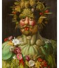 Giuseppe Arcimboldo - Ritratto di Rodolfo II d'Asburgo come Vertumno. Stampa su tela
