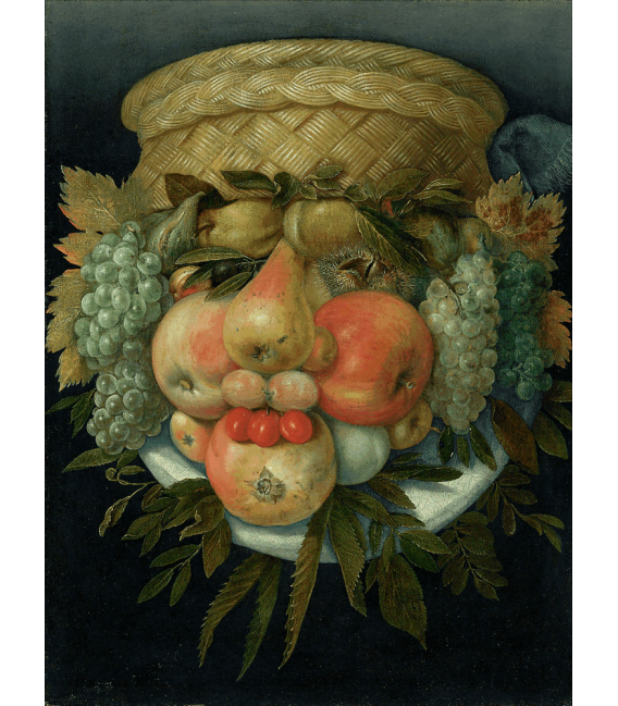 Printing on canvas: Giuseppe Arcimboldo - Male portrait from fruit
