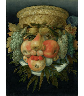 Giuseppe Arcimboldo - Male portrait from fruit. Printing on canvas