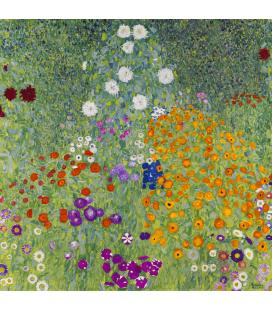 Gustav Klimt - Bauerngarten (Blumengarten). Stampa su tela