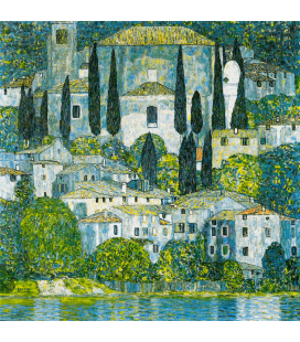 Printing on canvas: Gustav Klimt - Kirche in Cassone