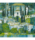 Stampa su tela: Gustav Klimt - Kirche in Cassone