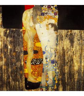 Gustav Klimt - Le tre età della donna. Stampa su tela
