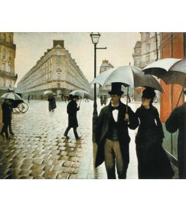 Stampa su tela: Gustave Caillebotte - Rue de Paris, Tems de Pluie
