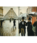 Printing on canvas: Gustave Caillebotte - Paris Street