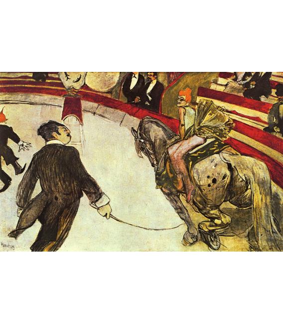 Stampa su tela: Henri de Toulouse-Lautrec - Au Circus Fernando