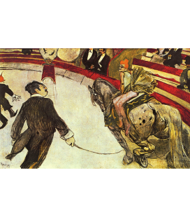 Printing on canvas: Henri de Toulouse-Lautrec -The Circus Fernando