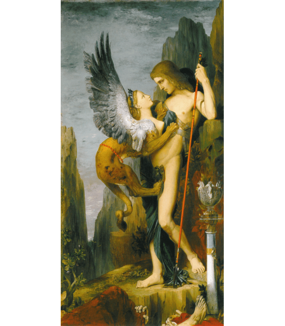 Stampa su tela: Gustave Moreau - Edipo e la Sfinge