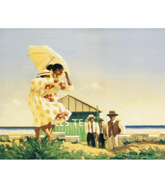 Printing on canvas: Jack Vettriano - A very Dangerus Beach