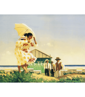 Jack Vettriano - A very Dangerus Beach. Printing on canvas