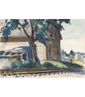 Edward Hopper - Lime Rock Railroad. Printing on canvas