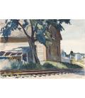 Edward Hopper - Calce e Pietre della Ferrovia. Stampa su tela