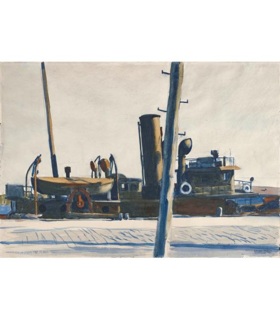 Printing on canvas: Edward Hopper - Trawler and Telegraph Pole