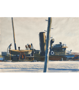 Printing on canvas: Edward Hopper - Trawler and Telegraph Pole