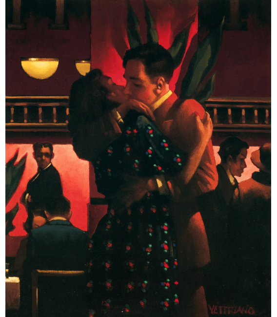 Printing on canvas: Jack Vettriano - The First Kiss