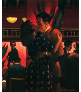 Jack Vettriano - Il Primo Bacio. Stampa su tela