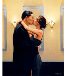 Jack Vettriano - The Kiss. Printing on canvas