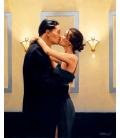 Stampa su tela: Jack Vettriano - The Kiss