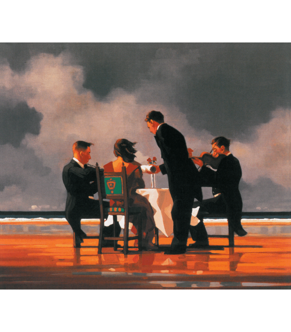 Printing on canvas: Jack Vettriano - Elegy For The Dead Admiral
