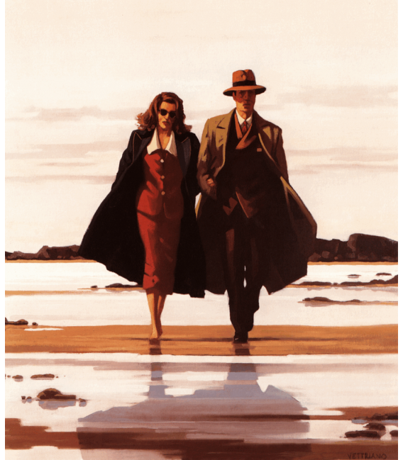 Printing on canvas: Jack Vettriano - The Road to Nowhere