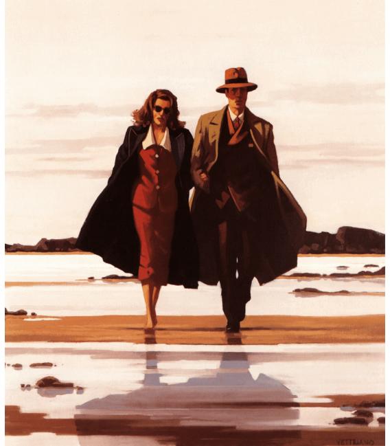 Stampa su tela: Jack Vettriano - The Road to Nowhere