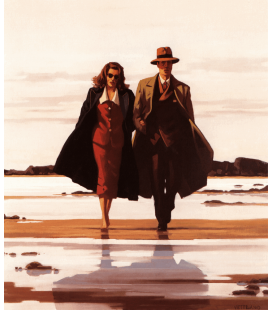Stampa su tela: Jack Vettriano - The Road to Nowhere