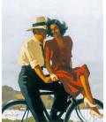Jack Vettriano - Pigri Nebbiosi Giorni. Stampa su tela