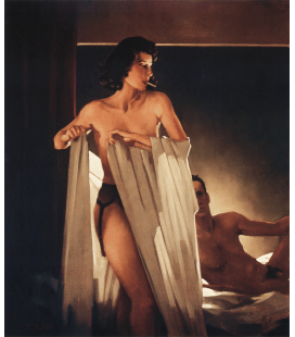 Stampa su tela: Jack Vettriano - Under Cover of the Night