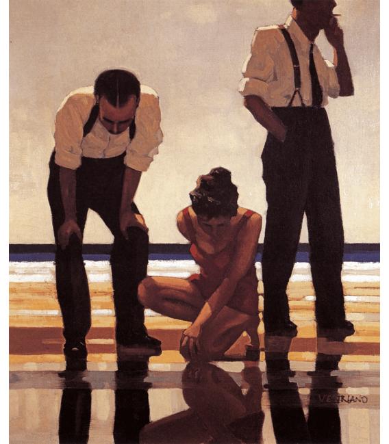 Printing on canvas: Jack Vettriano - Narcissistic Bathers